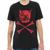 danger,kitty,cat,tee,shirt,t-shirt,men's,adult,black,gray