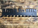 born to run,steel,medal,display,hanger,home decor