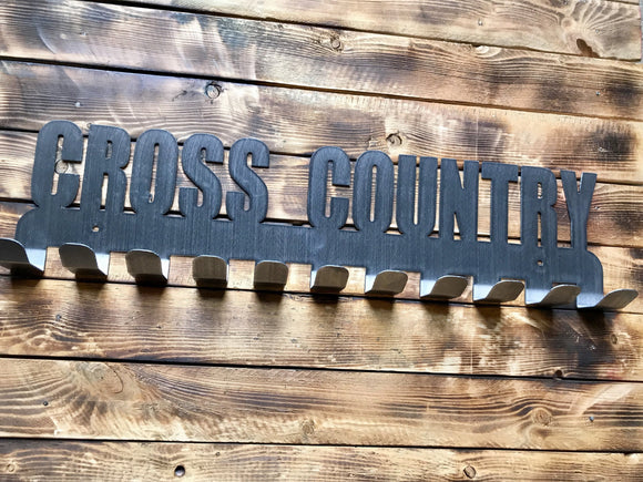 cross country,steel,medal,display,hanger,home decor,wall