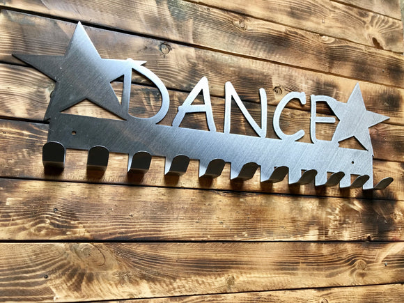 dance,steel,medal,display,hanger,home decor,wall,art