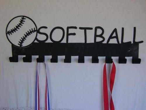 softball,steel,medal,display,hanger,home decor,wall,art