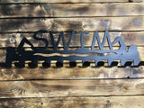 swim,medal,display,hanger,wall,steel,home decor,