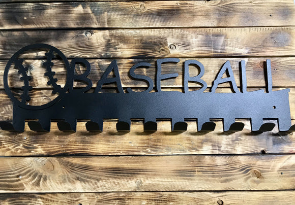 baseball,medal,display,hanger,steel,home decor,wall,art