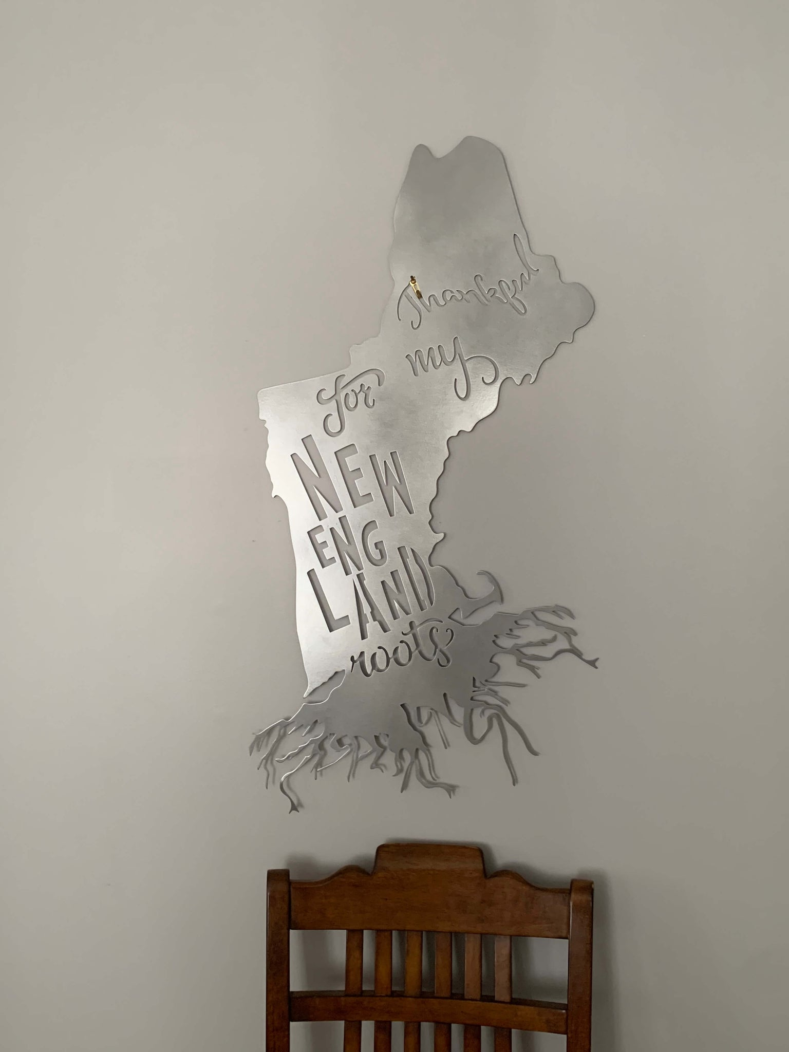 New England Roots Metal Wall Decor American Quality Gifts