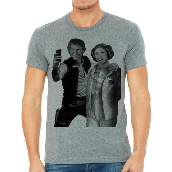 Star Wars Selfie, Hans and Leia Men's Tee Shirt