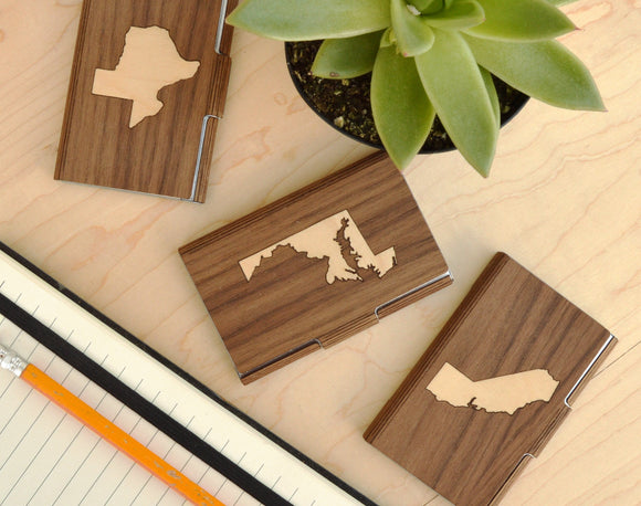state,wood,business,card,holder,handmade,autumn,summer