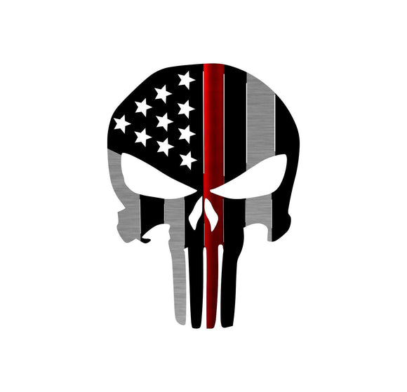 Thin Line Series - Punisher Flag Metal Wall Decor