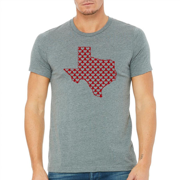 texas,hearts,tee,shirt,t-shirt,men's