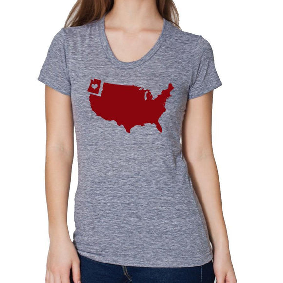 northwest,love,yes,tee,shirt,t-shirt,women's