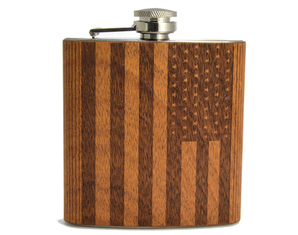 flask,hip,USA,flag,patriot,patriotic,woodwork,autumn summer,bar,handmade,handcrafted