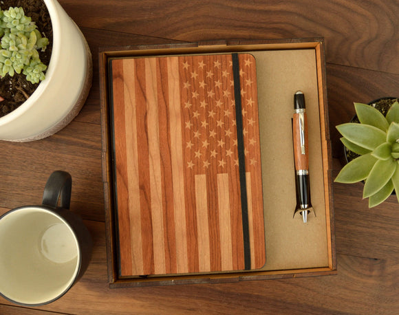 customized,personalized,wood,office,box,notebook,pen,gatsby
