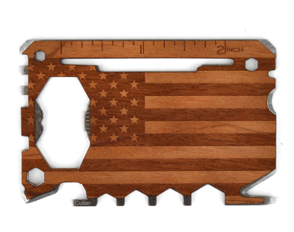 handmade,handcrafted,wood,multi,tool,screwdriver,bottle,opener,american,flag,personalized,customized,monogram