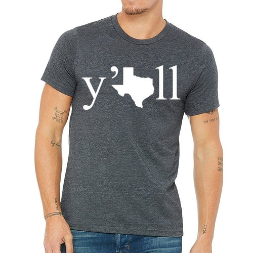 Texas y'all Men's Tee Shirt