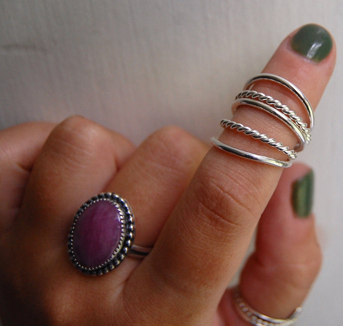 Sterling Stacking Rings