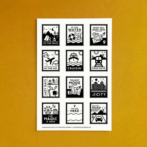 **PRE-ORDER ** Choose Your Own Adventure - 4x6 Clear Stamp Set