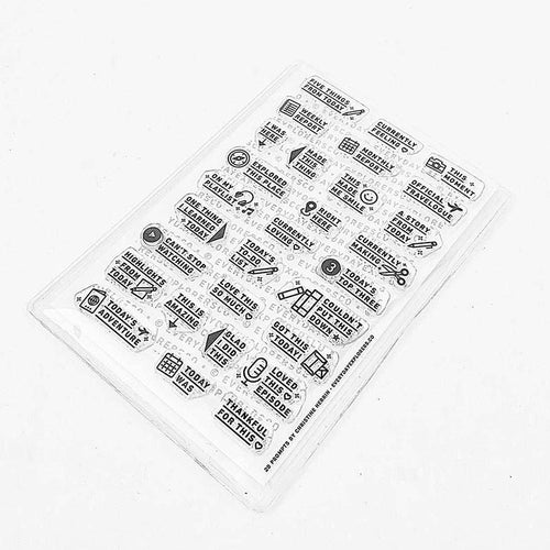 29 Prompts - 4x6 Clear Stamp Set