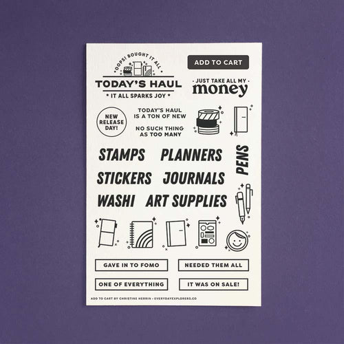 Add to Cart - 4x6 Clear Stamp Set