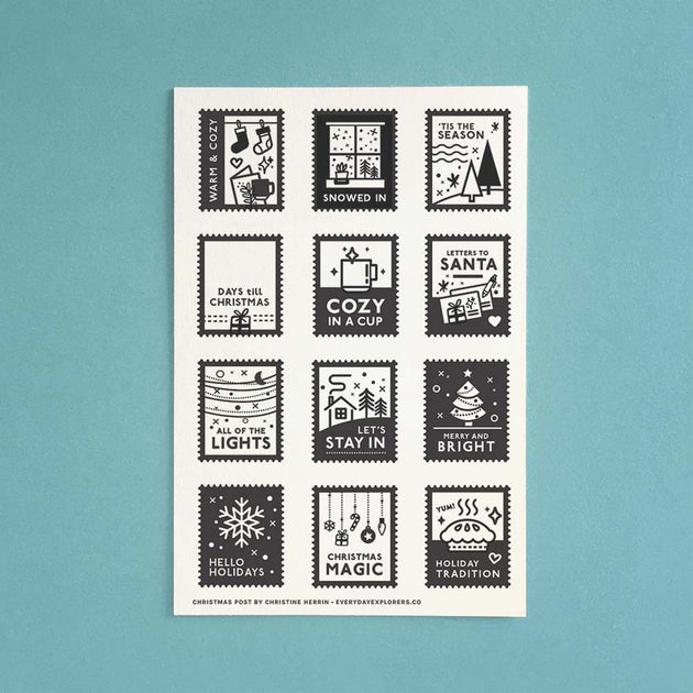 [PRE-ORDER] Christmas Post - 4x6 Clear Stamp Set