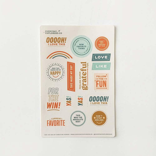 For the Win - 4x6 Sticker Sheet