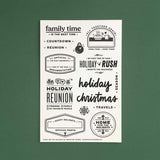 [PRE-ORDER] Home for the Holidays - 4x6 Clear Stamp Set