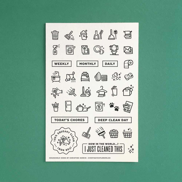 Household Icons - 4x6 Clear Stamp Set