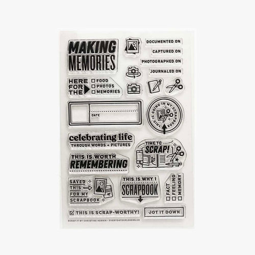 Scrap It - 4x6 Clear Stamp Set