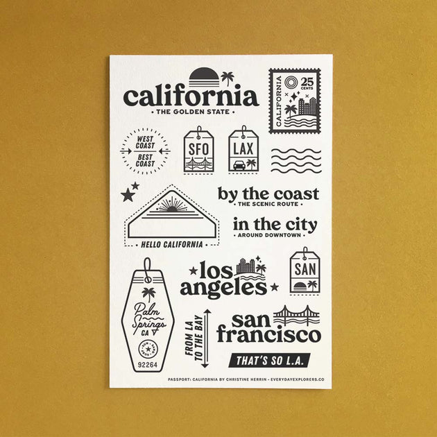 Passport: California - 4x6 Clear Stamp Set