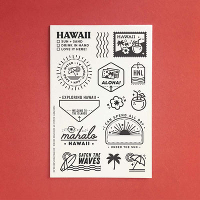 Passport: Hawaii - 4x6 Clear Stamp Set