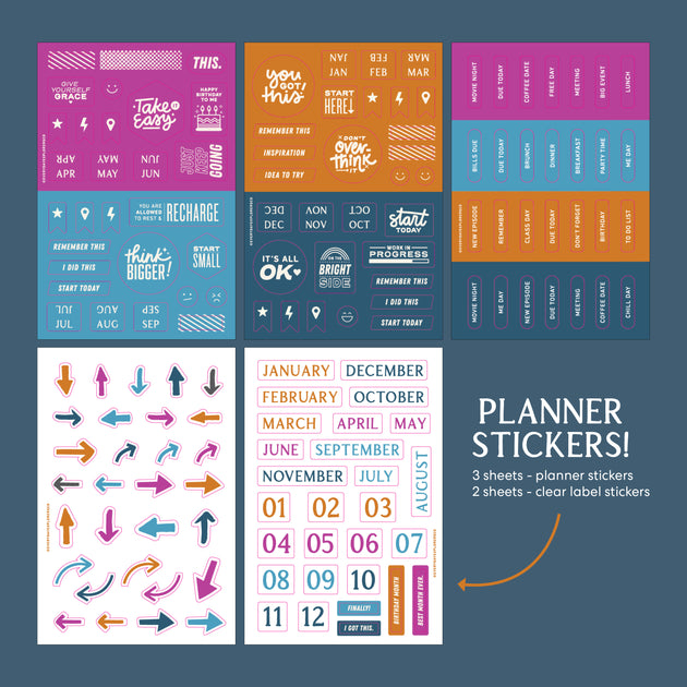 2021 Let's Be Explorers Undated Planner