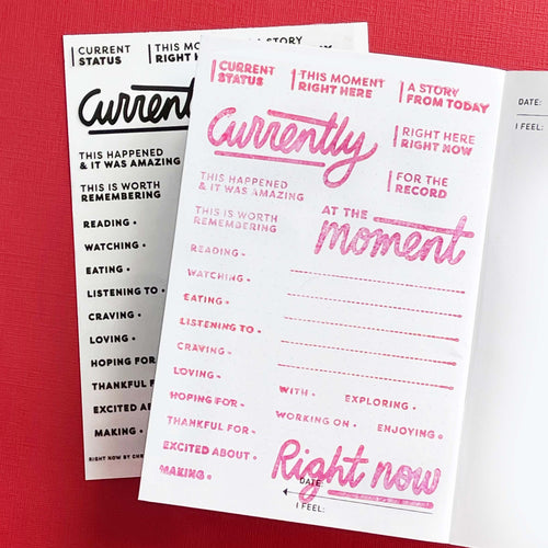Right Now - 4x6 Clear Stamp Set