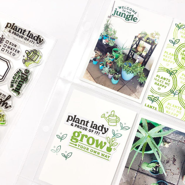 Plant Parent - 4x6 Clear Stamp Set