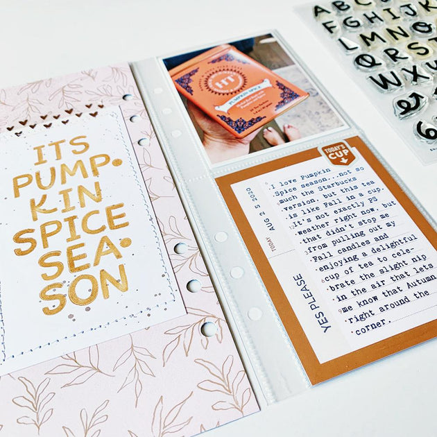 Snickerdoodle Alphabet - 4x6 Clear Stamp Set
