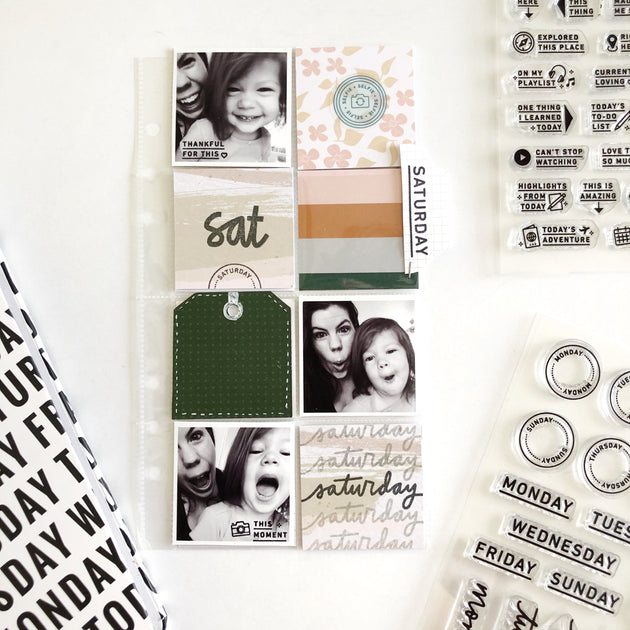 Day By Day - 6x8 Clear Stamp Set