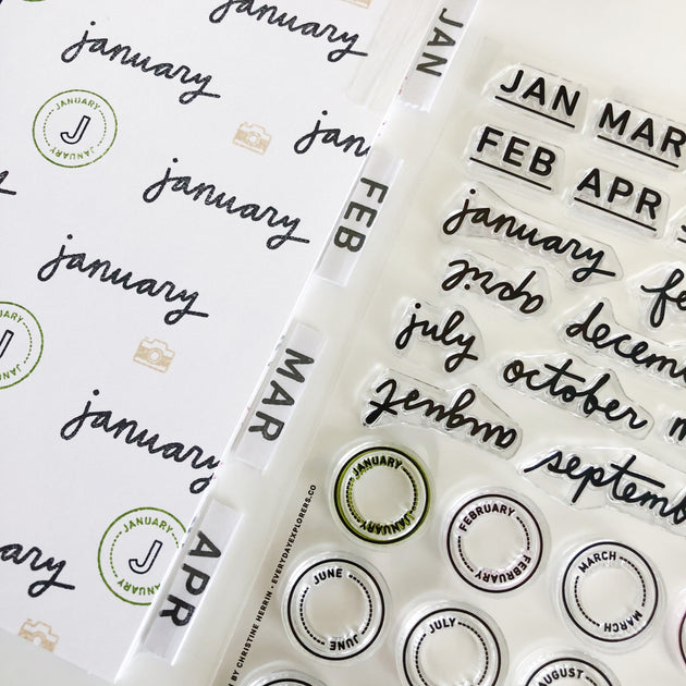 Month By Month - 6x8 Clear Stamp Set