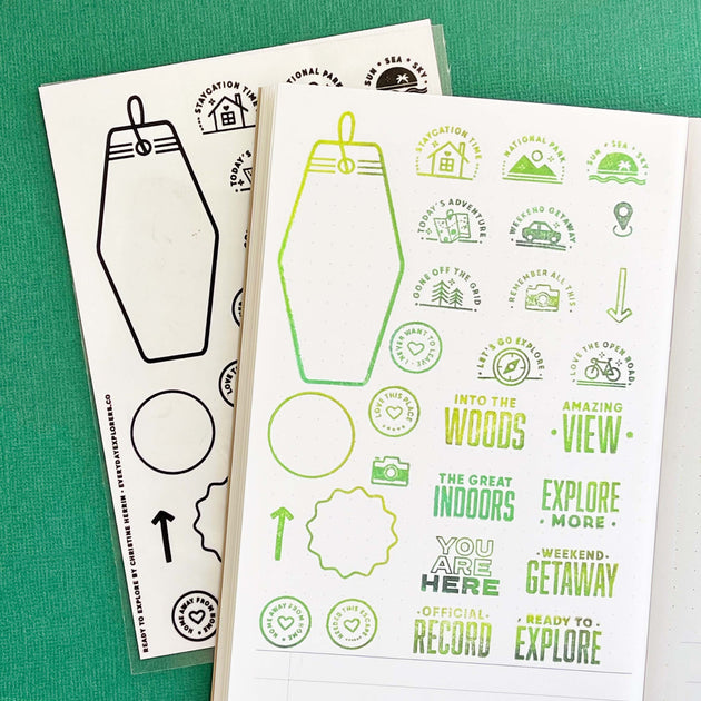 Ready to Explore - 4x6 Clear Stamp Set