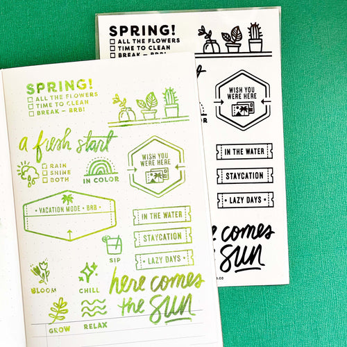 Spring is Here - 4x6 Clear Stamp Set