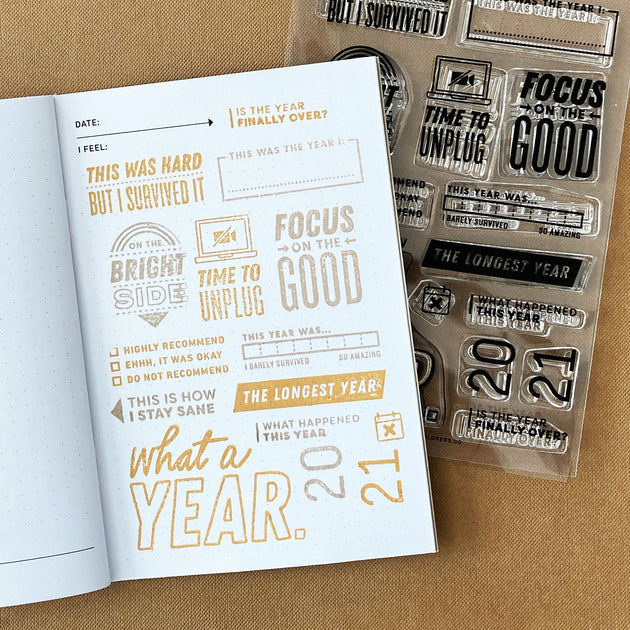 What a Year - 4x6 Clear Stamp Set