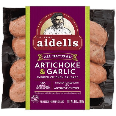 ARTICHOKE & ROASTED GARLIC LINK SAUSAGE
