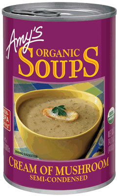 ORGANIC CREAM OF MUSHROOM  SEMI-CONDENSED SOUP