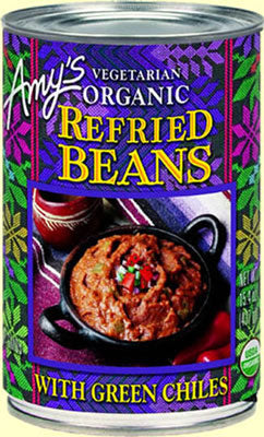 ORGANIC REFRIED GREEN CHILES BEANS