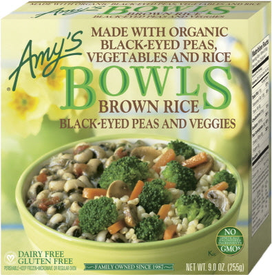 BROWN RICE, BLACK EYED PEAS & VEGGIES BOWLS