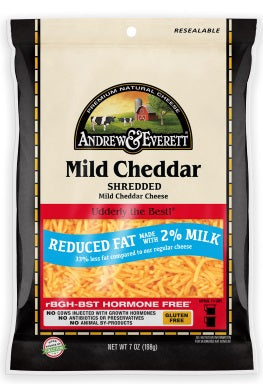 REDUCED FAT MILD CHEDDAR CHEESE SHREDDED