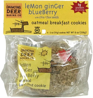 LEMON BLUEBERRY GINGER OATMEAL COOKIES
