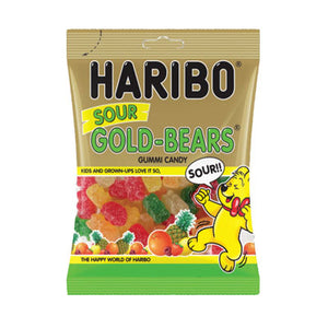 SOUR GOLD-BEARS GUMMI CANDY