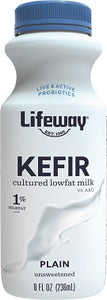PLAIN KEFIR (LOW FAT) 8OZ