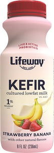 STRAWBERRY & BANANA KEFIR (LOW FAT) 8OZ