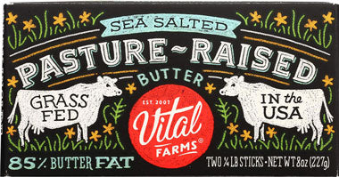 VITAL FARMS BUTTER PAST-RAISE SEA SALT