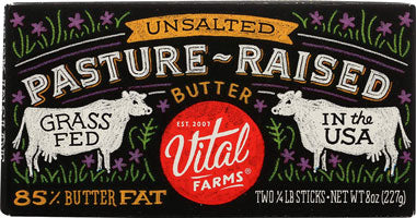 VITAL FARMS BUTTER PAST-RAISE UNSALTED