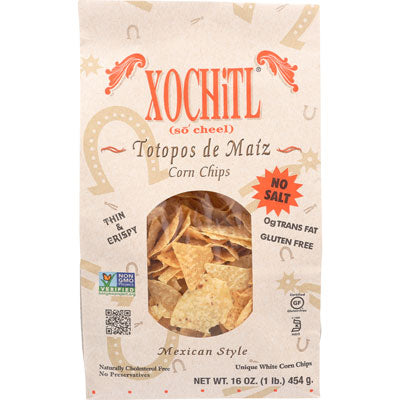 NO SALT CORN TORTILLA CHIPS 16OZ