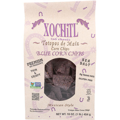 BLUE CORN CHIPS 16OZ